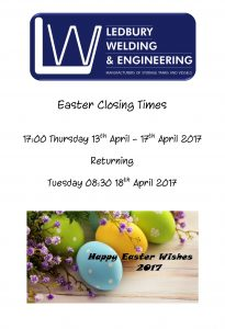 Easter Closing Times