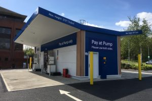 Pay at pump modular fuelling stations
